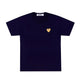 T-SHIRT WITH SMALL GOLD HEART / Navy / S