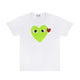 COLOR HEART T-SHIRT / WHITE/GREEN / S