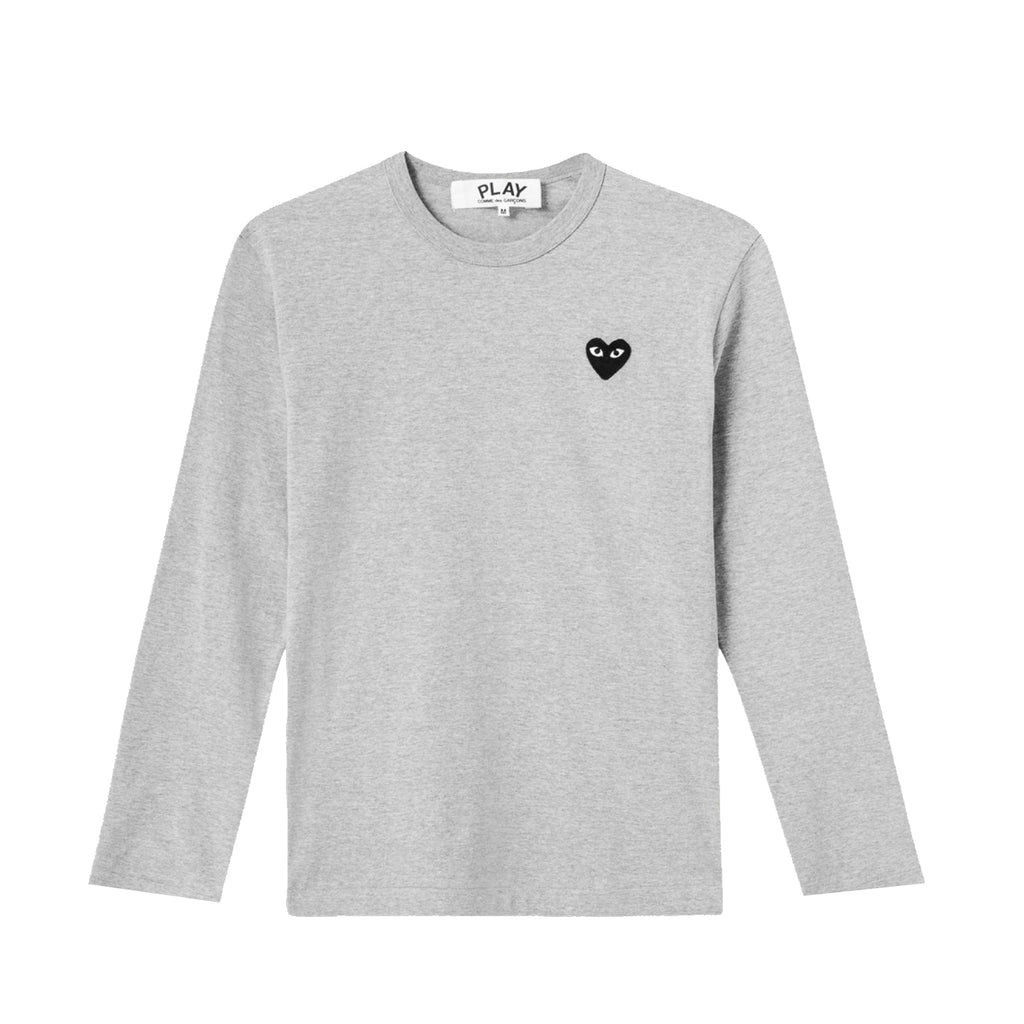 BLACK HEART L/S T-SHIRT GREY