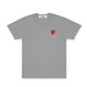 PLAY Little Red Heart T-Shirt / GRAY / S