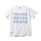 BILLIONAIRE BOYS CLUB x ANDRE SARAIVA REPEAT LOGO TEE / WHITEXGREY / S