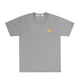 T-SHIRT WITH SMALL GOLD HEART / Grey / S