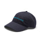 EMBROIDERED CURVED VISOR HAT / NAVY / O/S