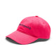 EMBROIDERED CURVED VISOR HAT / PINK / O/S