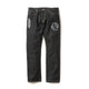 DOLLAR CHENILLE PATCH DENIM PANTS / BLACK / S
