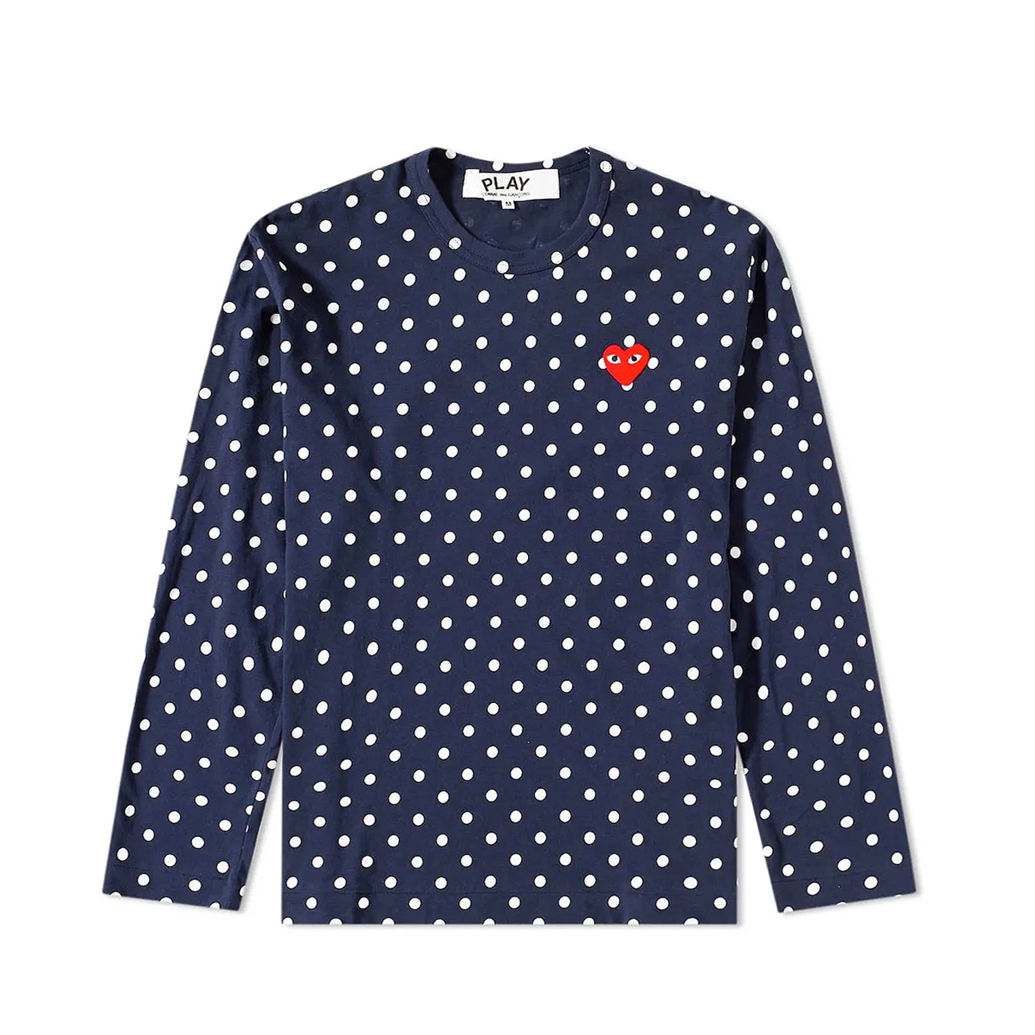 POLKA DOT L/S T-SHIRT WITH SMALL RED HEART