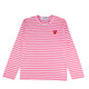 STRIPED PASTELLE T-SHIRT / PINK/WHITE / S
