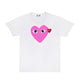COLOR HEART T-SHIRT / WHITE/PINK / S