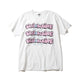BILLIONAIRE BOYS CLUB x ANDRE SARAIVA REPEAT LOGO TEE / WHITEXPINK / S