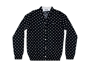 CDG Play POLKA DOT CARDIGAN
