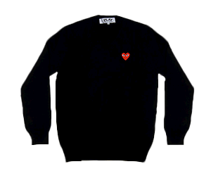 CDG Play PLAY V-NECK SWEATER