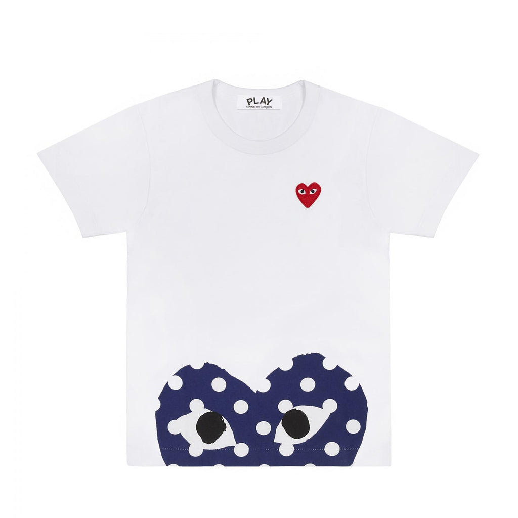 POLKA DOT BOTTOM HEART T-SHIRT