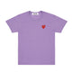 PLAY Little Red Heart T-Shirt / PURPLE / S