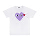 Color Heart T-Shirt / WHITE/PURPLE / S