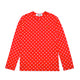 POLKA DOT L/S T-SHIRT WITH SMALL RED HEART / Red / S