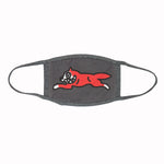 GREY RUNNING DOG FACE MASK