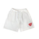 SWEAT SHORTS / WHITE / S