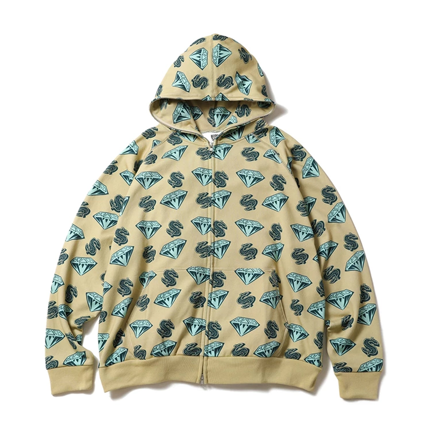 DIAMOND & DOLLAR FULL ZIP HOODIE