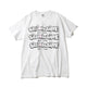 BILLIONAIRE BOYS CLUB x ANDRE SARAIVA REPEAT LOGO TEE / WHITEXWHITE / S