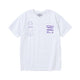 ANA / C-TEE SS / WHITE/PURPLE / S