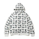 DIAMOND & DOLLAR FULL ZIP HOODIE / WHITE / S