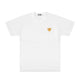 GOLD SMALL HEART TEE / White / S