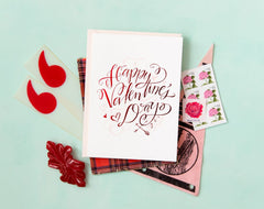 Happy Valentine's Day! Card by Lindsay Letters Valentines Day gift guide 2018 white elm