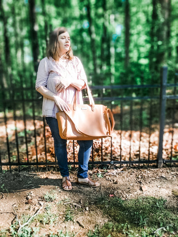white elm brown aquila bag review
