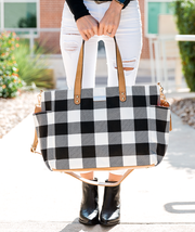 Aquila Tote Bag - Black Buffalo Check