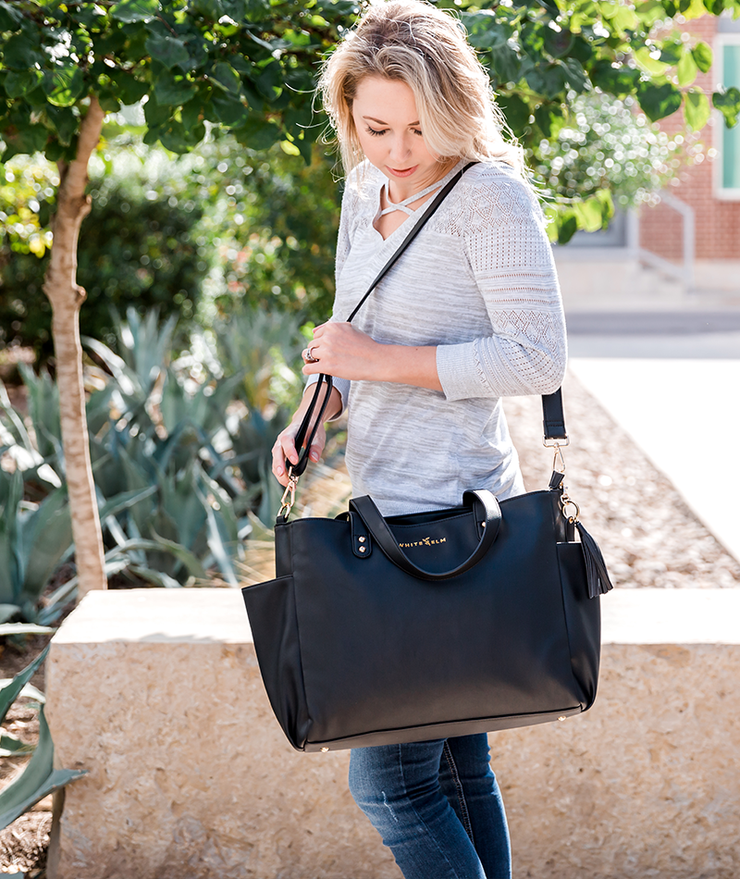 Aquila Tote Bag - Black Vegan Leather