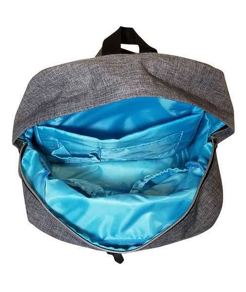 white elm convertible diaper bag backpack blue interior pockets with changing pad waterproof