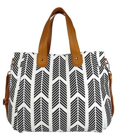Front view of the Black Arrows Weekender Tote Bag