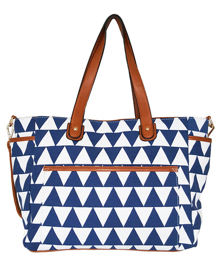 Crosses Hobo Crossbody Bag - Blue