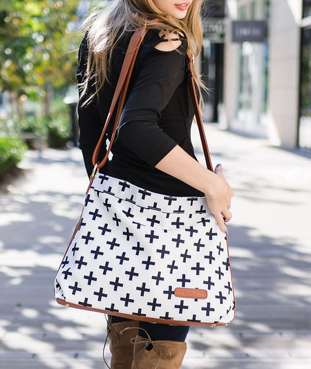 Gray Triangle Tote Bag - The Libra