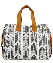 Front view of the Gray Arrows Weekender Tote Bag