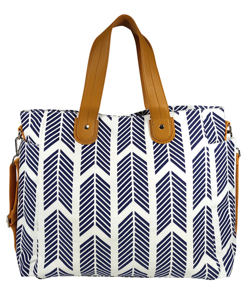 Navy Blue Arrows Weekender Tote Bag