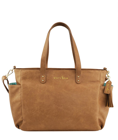 Aquila Tote Bag - Almond Brown Vegan Leather