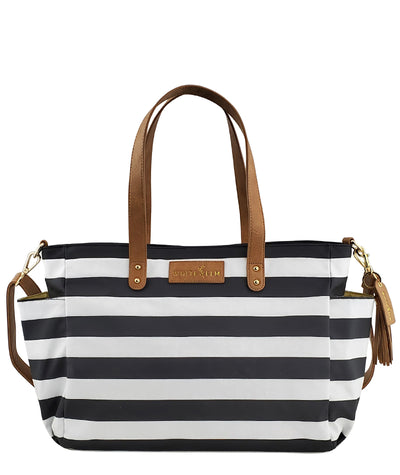 Aquila Tote Bag - Black Stripe