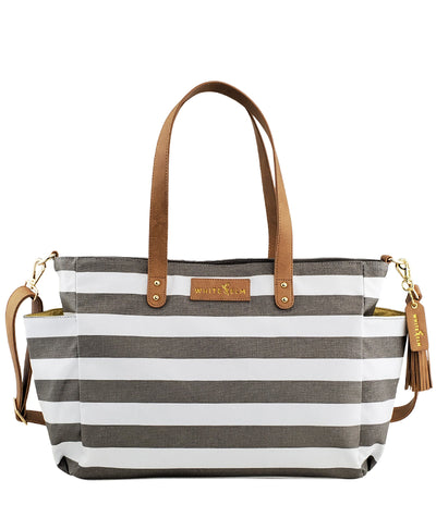 Aquila Stripe Tote Bag - Gray Stripe