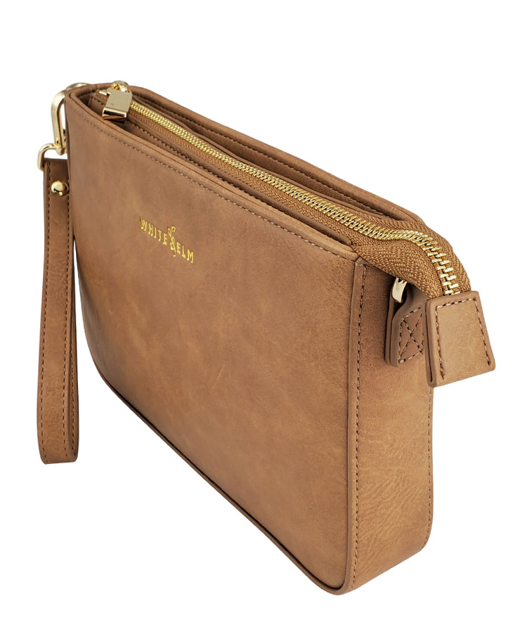 Ara Convertible Crossbody Clutch - Almond