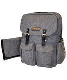 Jet City Diaper Bag Backpack - White Elm
