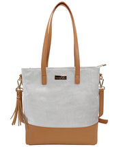 Front view of the Carina Microsuede Bag