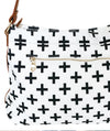Crosses Hobo Crossbody - White - White Elm - canvas and vegan leather toddler diaper bag plus signs modern style 7 pockets large handbag back zipper pocket