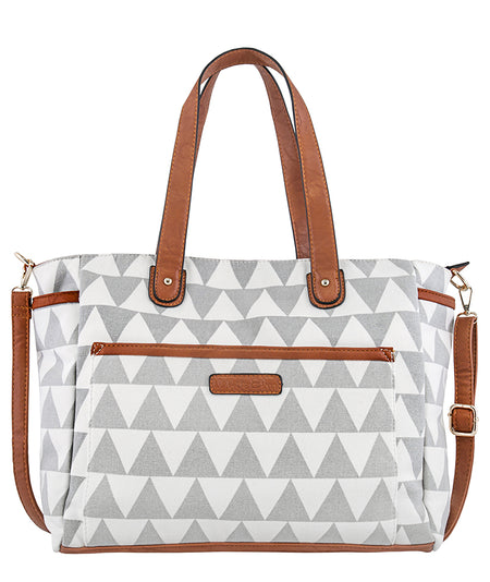 Striped Weekender Tote Bag - Lux