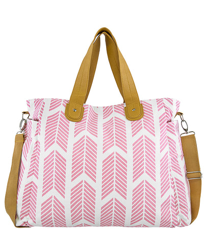 Rose Pink Arrows Weekender Tote Bag
