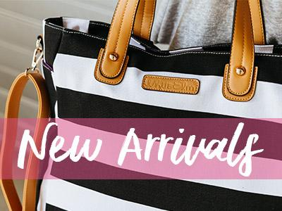 white elm new arrival bags totes tote diaper bag stripes black gray blue