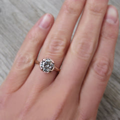 Natural Grey Moissanite Twig Engagement Ring (1.5ct), by Kristin Coffin Jewelry