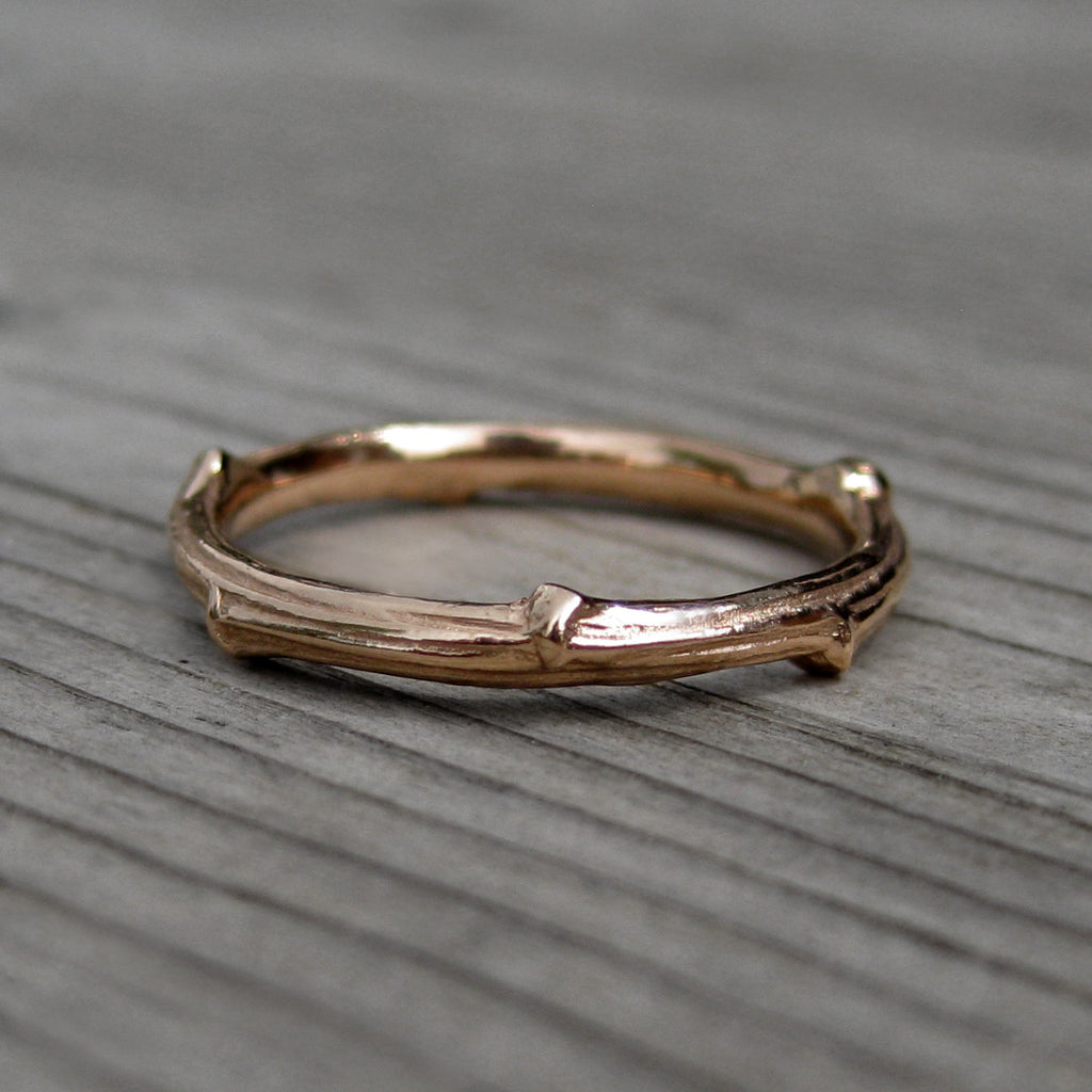 Twig Wedding Band