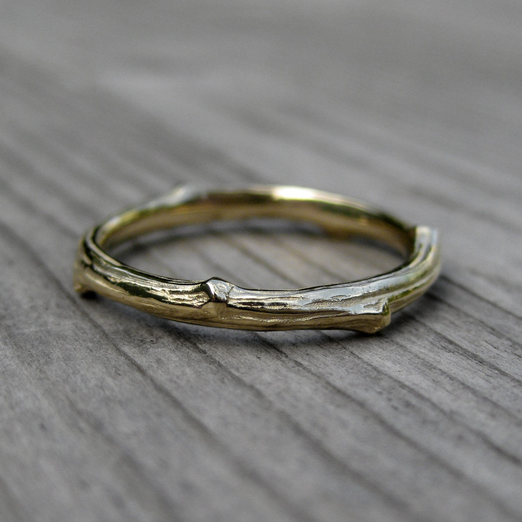 Twig Branch Wedding Band Set Kristin Coffin Jewelry