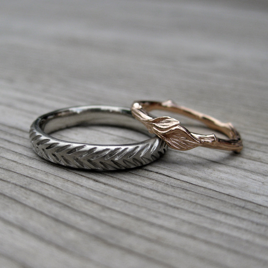 Feather Wedding Band, Kristin Coffin Jewelry